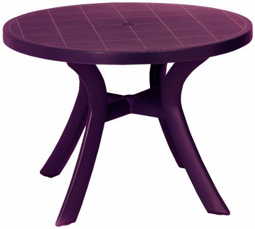 BEST 18511040 Tisch Kansas rund, Durchmesser 100 cm, bordeaux