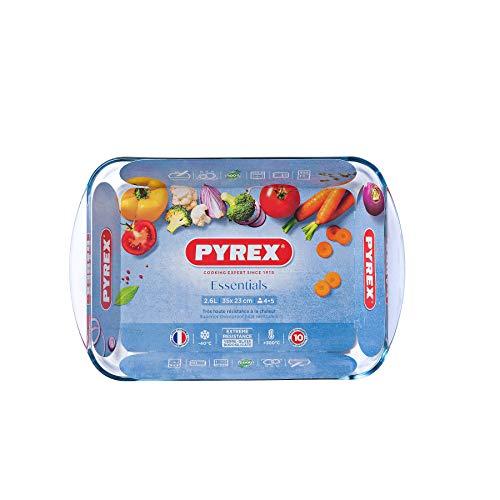 Pyrex Essentials - Molde Horno Resistente Calor, Asas