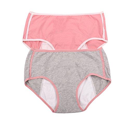 Frauen Menstruation Schutz Leak Proof Control kurze Multi Pack Größe 36-44 (44, Rosa, Grau) (Blutungen Mädchen Bei)