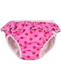 ImseVimse Schwimmwindel Aquawindel Babybadehose pink dots frill / rosa Punkte mit Rüsche Größe M (medium) 7-10 kg