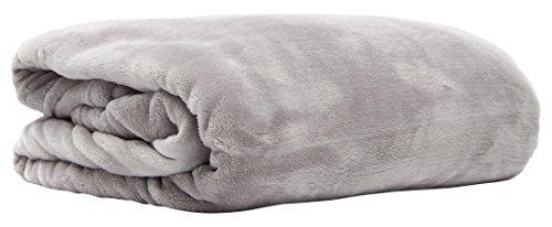 Snug Me Supersoft Kuscheldecke, flauschig weiche XXL Cashmere-Touch Wohndecke 200 x150 cm, hochwertiger 280g/m2 Flannel-Fleece, Microfaser-Decke, Hell-Grau / Ash Ash Fleece
