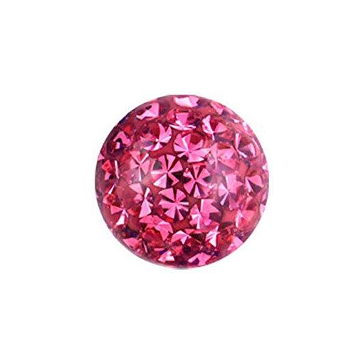 eeddoo 1,6 mm - 6 mm - LA- Light Amethyst - Epoxy - Schraubkugel - Kristall - einfarbig (Piercing Schraubkugel Aufsatz für Hufeisen, Stäbe, Labrets etc.)