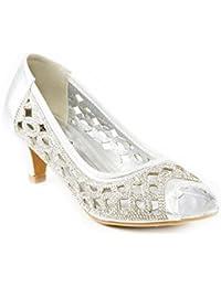Shalimar Shoes (GS) UK Punta Abierta Mujer