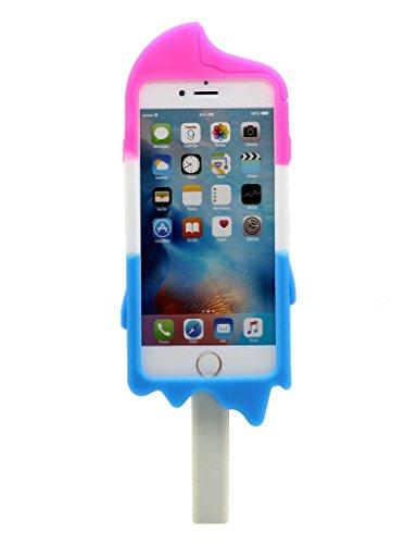 iPhone 4 Custodia, Hamyi iPhone 4S Cover Morbida Silicone Motivo Moda 3D Sexy Lips Labbra Protettiva Case per Apple iPhone 4/4S(Verde) Red Rose/bianco/blu