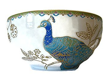 222 Fifth Peacock Garden Cereal Bowls, Set of 4 by 222 Fifth - 222 Fifth Dinnerware