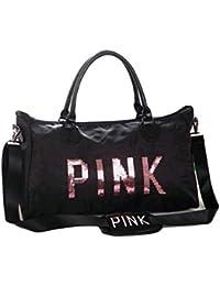 MSE Secret Message Sequin Large Pouch Lightweight Travel Bag 47cm Wide Comfortable Travel Gym Practice Both
