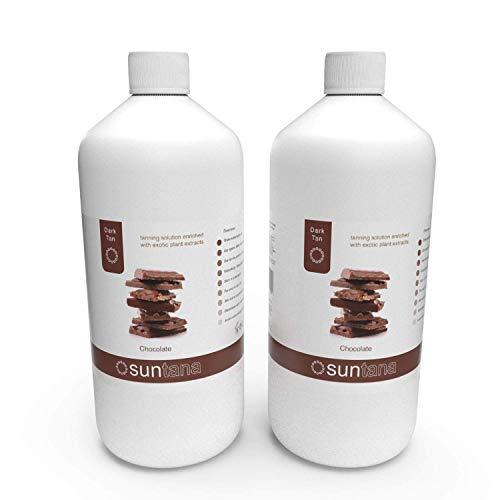 2000ml (X 2 1000ml) ML Chocolat Foncé 12% Dha Spray Tan Solution
