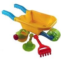 Childs Wheelbarrow Garden Summer Sand Pit Toy Play Set (Blue)