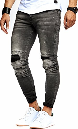 LEIF NELSON Herren Jeans Hose Jeanshose Stretch Schwarz Freizeithose Denim Slim Fit LN9935SC; W31L32, Blau