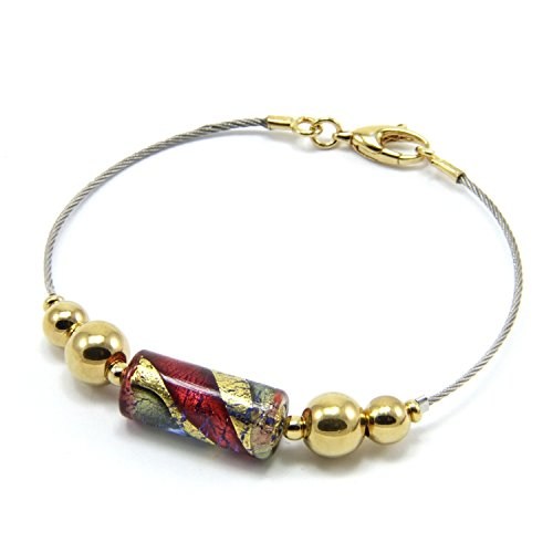 bracelet-woman-in-925-silver-gold-24-kt-plated-murano-glass-enhanced-by-a-yellow-gold-leaf-made-in-f