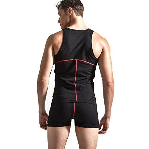 Tiaobug Herrenbody Männerbody Einteiler Body Overall Unterwäsche Baumwolle Muskel Shirt Unterhemd M-XL - 2