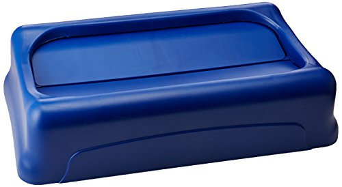 rubbermaid-commercial-products-fg267360blue-couvercle-basculant-slim-jim-bleu
