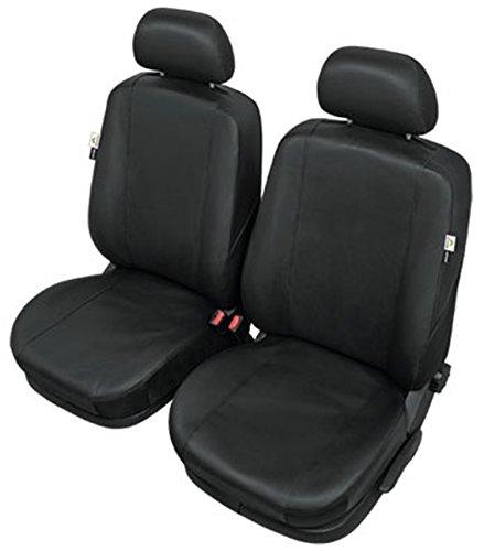 ZentimeX Z976714 Sitzbezüge Vordersitze Kunstleder schwarz Airbag-Kompatibel
