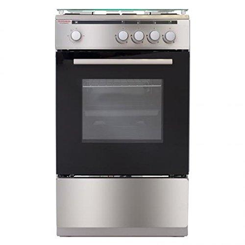 Conjunto de cocina TELEFUNKEN 14TLK5040GX 85 x 50 x 50 cm gas 4 fuegos inox
