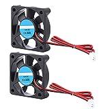 Zerone 2Pcs 3D Drucker Zubehörteil DIY 5010 Lüfter 2Pin 12V 4000-6500 RPM 30dB 8-14CFM