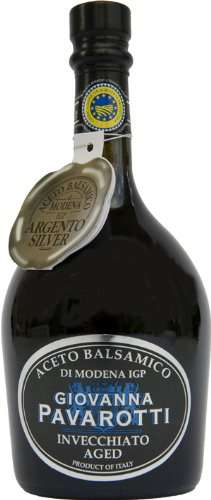 GIOVANNA PAVAROTTI Balsamico Essig Silber, ca. 10 Jahre - Inhalt: 250ml