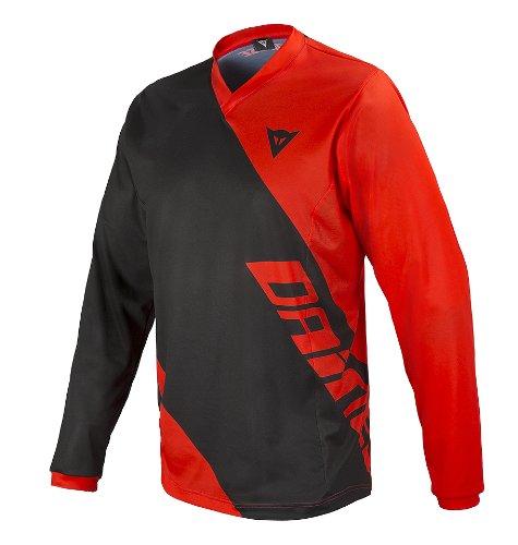 Dainese Erwachsene Shirt Basanite Long Sleeve Black/Red