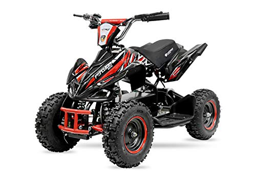 800W 36V Eco Python Kinderquad Quad Mini Atv Pocketbike Dirt Nitro Motors (Rot) Python Mini