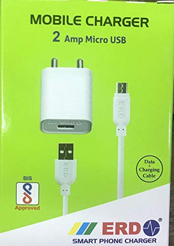 Scotch-Brite Generic ERD TC-50 5V 2Amp Super Fast Charger with 1 Meter USB Cable for All Android and Smart Phones(White)