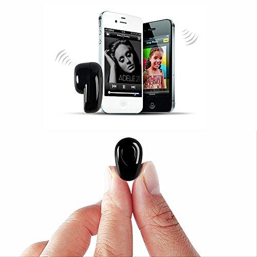 Auricolare bluetooth, cuffie auricolari wireless con auricolare wireless, mani libere tramite iphone x, 8,8plus, 7,7 plus, 6s, samsung galaxy, ios, smartphone android (bianco)