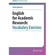 English for Academic Research: Vocabulary Exercises: Vocabulary Exercises
