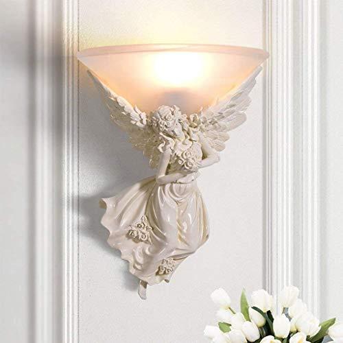 leuchtung Graceful Engel Skulptur Wandleuchte Schlafzimmer Nacht Wohnzimmer Hintergrund Wand Kreative Einfache Gang Treppen LED Dekoration Athena Engel Carving Nachtlicht,Linker E ()
