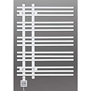 Electric Towel Rail, Heated Towel Rail, White Straight, Incl. Heating Element, Fix and Delivered - White, 800h x 600b