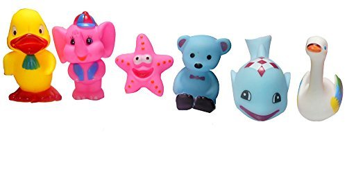 iVee international™ 6 PCS Lovely Mixed Colourful CHU CHU Squeeze Me Toys. Cute Animal Friends