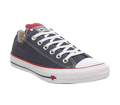 Converse Damen Chuck Taylor All Star Sneaker, Blau (Indigo/Enamel Red/White 000), 37.5 EU