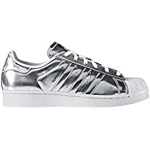 adidas Superstar W Silver Metallic Silver Metallic White Black