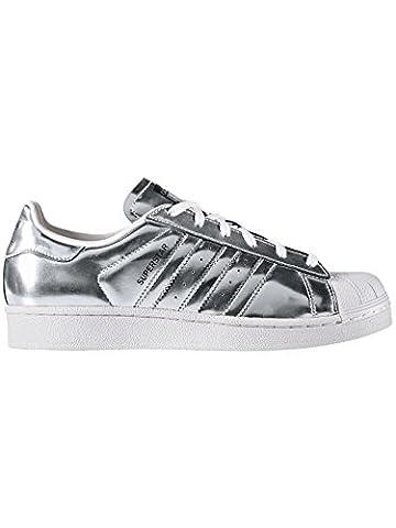 adidas Superstar W Silver Metallic Silver Metallic White Black