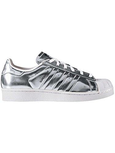 adidas Superstar W Silver Metallic Silver Metallic White Black Argent