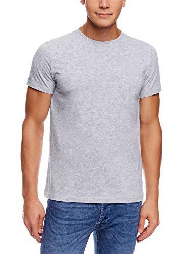 oodji Ultra Men's Basic T-Shirt (Pack of 3)