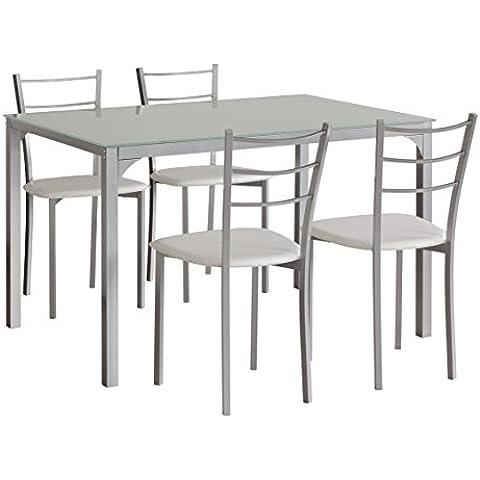 Conjunto de mesa de cocina + 4 sillas Londres