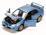 Blue Subaru Impreza Wrx Sti 1:24 Scale Diec Cast Car by Motor Max