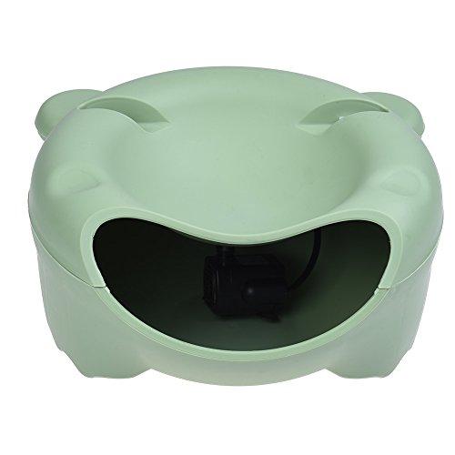 yiding Automatische Pet Wasser Brunnen Elektrische Wasser Spender für kleine Katze Hund grün (Fließendes Wasser Katze Schüssel)