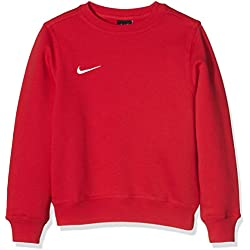 Nike Yth Team Club Crew - Sudadera para niño, Rojo (University Red/Football White), S (128-137 cm)