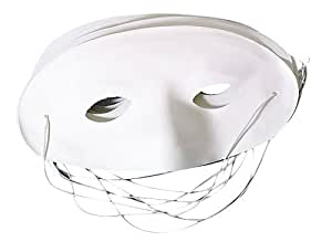 Masque Loup à peindre ( lot de 5 )-blanc