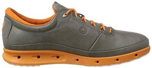 Ecco Cool, Chaussures Multisport Outdoor Homme Gris - Grau (WARM GREY/ORANGE59556)