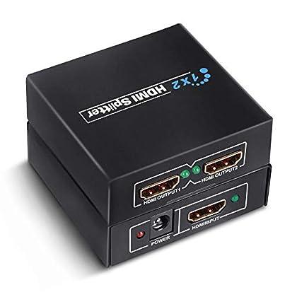 GHB HDMI Splitter 1 Entrada y 2 Salidas Full HD...