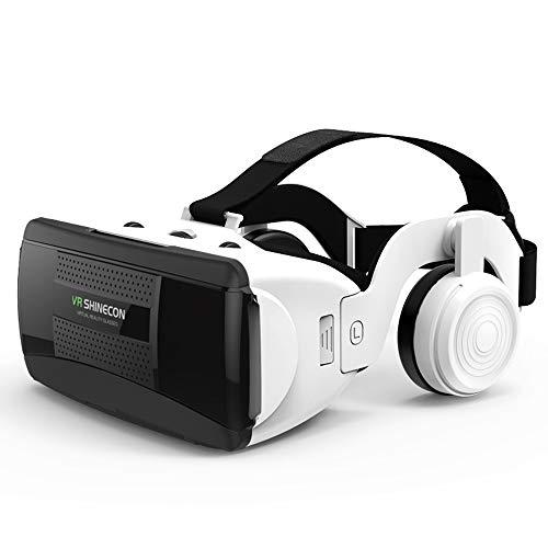 HJL Virtual Reality Headset, Digitale 3D-Virtual-Reality-Brille mit HiFi-Kopfhörern, Einstellung der Objektentfernung/Anpassung des Gummibandes