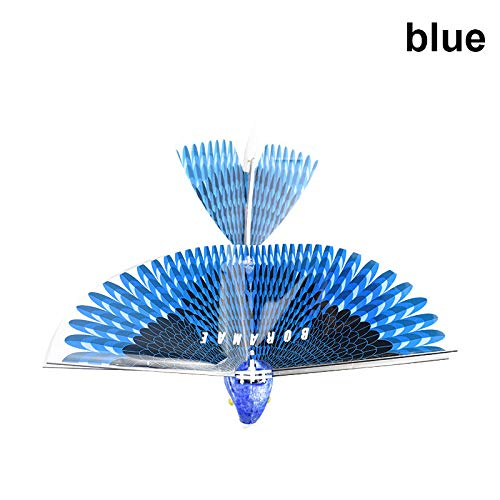 Abboard Telecomando, Giocattolo elettronico Uccello Mini RC Drone Giocattolo, RC Flying Bird Plane Flapping Wing Flight Model 2.4 GHz Drone Bambini Regali Blue
