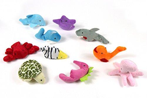 10x Fingerpuppen Meer Tierfiguren Miniblings Fische Maritim Plüsch Wasser Fisch