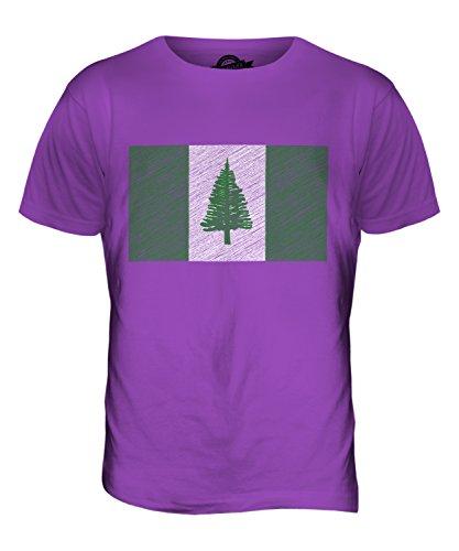 CandyMix Norfolkinsel Kritzelte Flagge Herren T Shirt Violett