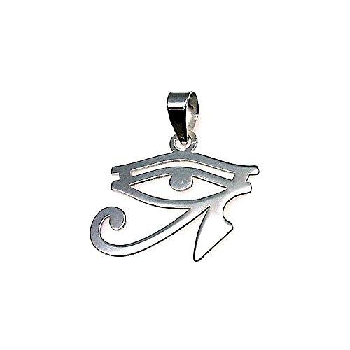 Colgante plata ley 925m 23mm. amuleto talismán ojo que todo lo ve horus contra enfermedades conjuros maldiciones mal de ojo. Unisex. Largo(mm): 20. Ancho(mm): 23. Peso(gr): 1.1