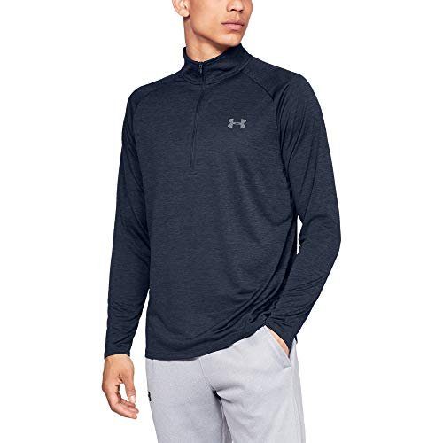 Under Armour Herren UA Tech 2.0 langärmliges Sportshirt mit Half Zip, sportliches Longsleeve, schnell trocknendes Langarmshirt für Männer - Under Herren Armour Trainings-shirt