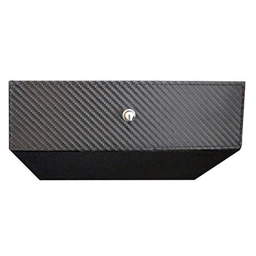 AOLVO Mittelkonsole Schublade für Tesla, Auto Innenraum, Mitte, Organizer Cubby Schublade, Aufbewahrungsbox, Brillenbox für Tesla Modell X Modell S Carbon Fiber