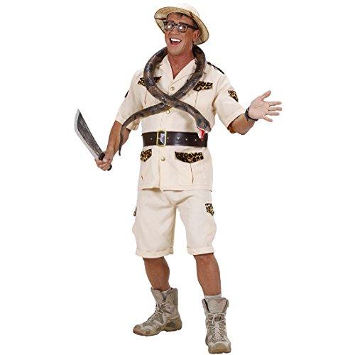 Amakando Dschungel Herrenkostüm Wildnis Safarikostüm S 48 Forscher Dschungelkostüm Safari Kostüm Karnevalskostüme Herren Urwald Entdecker Faschingskostüm Pfadfinder Afrika Männerkostüm