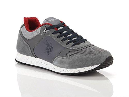 U.S.POLO ASSN. Scarpe Uomo US Polo Sneaker Running Tiguan Pelle  Scamosciata Tessuto Dark 5640eb9c2b9