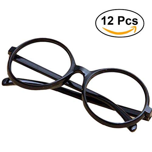 LUOEM Brillengestelle 12pcs schwarzer Brille Rahmen/ Runde Gläser Rahmen Kinder